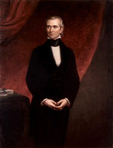 Portrait of James K. Polk by by George P. A. Healy (1858)